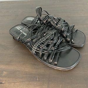 Jeffrey Campbell y2k square toe flats